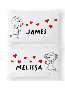 Personalised Blowing Kisses Pillowcase Set - 281406