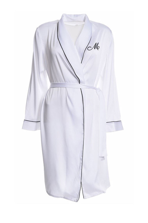 Personalised Embroidered Satin Robe