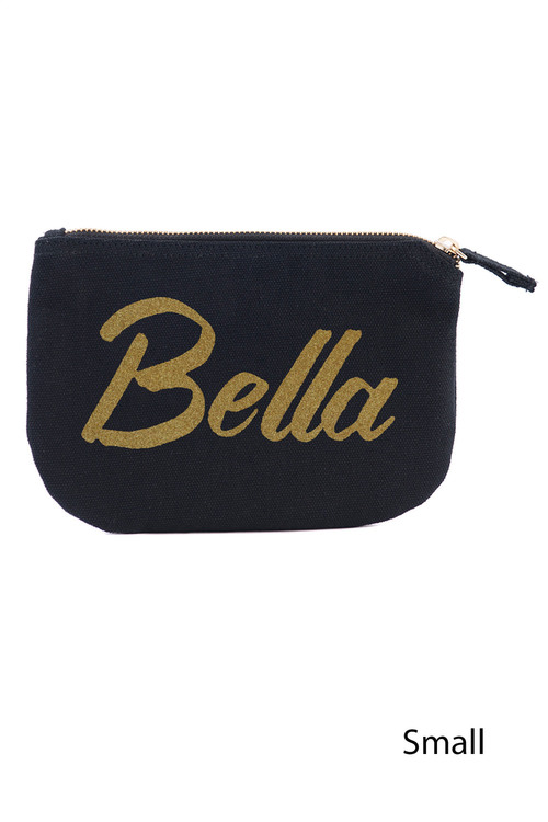 Personalised Custom Message Canvas Pouch