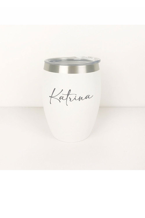Personalised Engraved White Wine Sipper