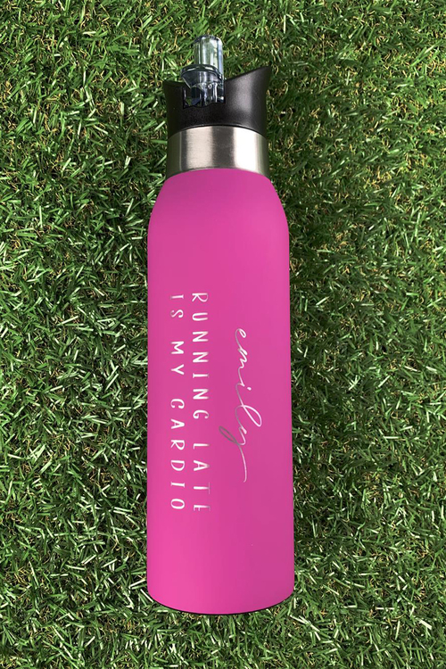 Personalised Stainless Running Late Bottle