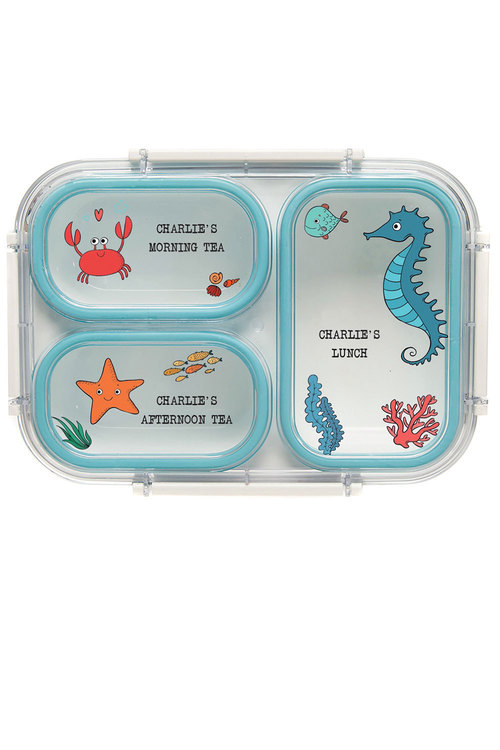 Personalised Under The Sea Seahorse Bento Lunch Box