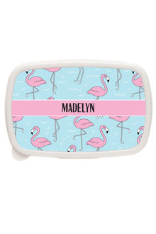Personalised Flamingo Lunch Box - 281421