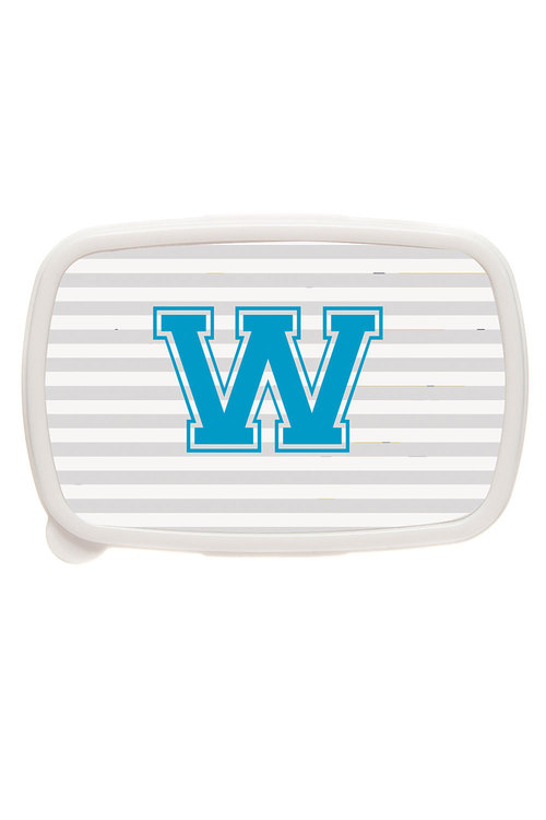 Personalised Stripe Letter Lunch Box