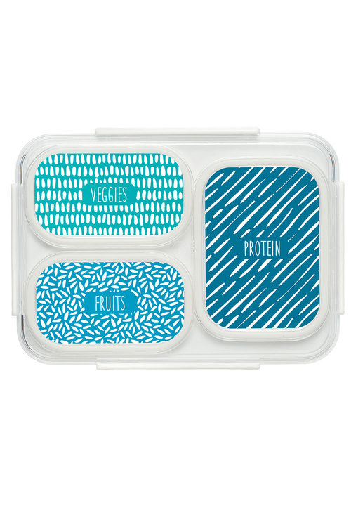 Personalised Bright Stripes Bento Lunch Box
