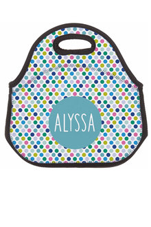 Personalised Spotty Neoprene Lunch Bag - 281431