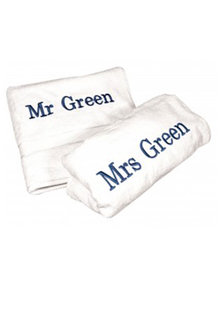 Personalised His and Hers Plain Towel Pack - 281440