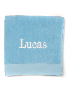 Personalised 100% Cotton Turquoise Bath Towel - 281445