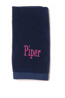 Personalised 100% Cotton Navy Hand Towel - 281449
