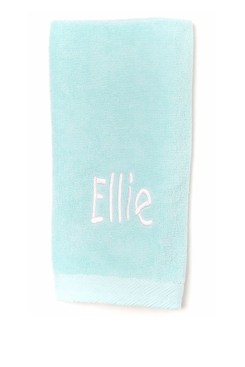 Personalised 100% Cotton Mint hand Towel