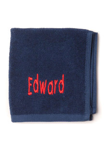 Personalised 100% Cotton Navy Face Towel - 281458