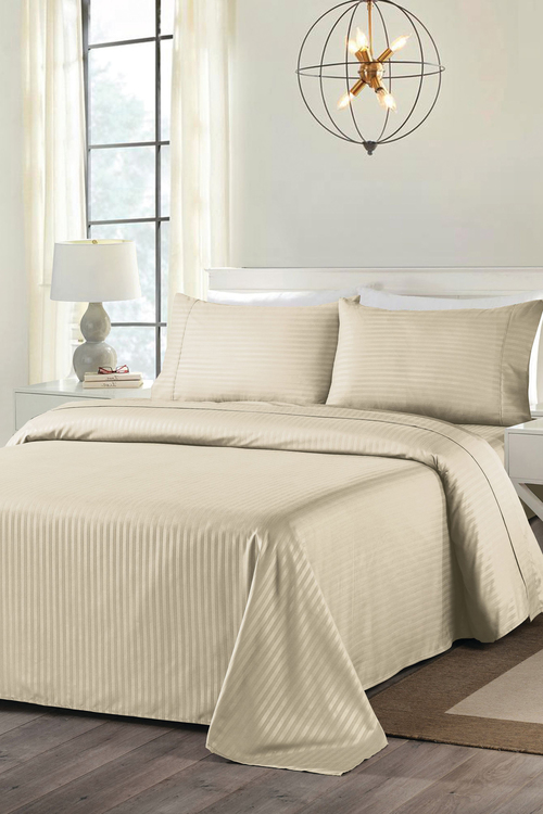 Royal Comfort Blended Bamboo Stripe Sheet Set