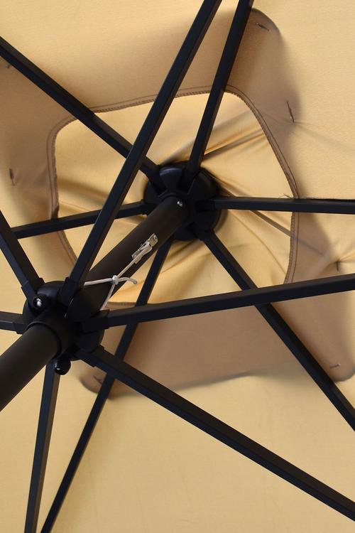 Arcadia Furniture Outdoor 3 Metre Garden Umbrella with In-Built Solar LED