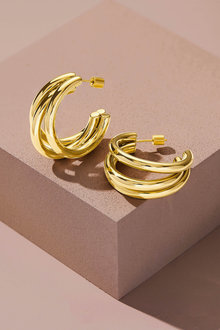Fairfax & Roberts Contemporary Triple Hoop Earrings - 281571
