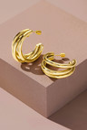 Fairfax & Roberts Contemporary Triple Hoop Earrings