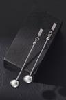 Fairfax & Roberts Contemporary Long Drop Ball Earrings