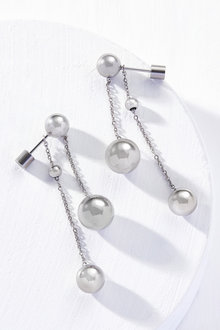 By Fairfax & Roberts Contemporary Double Drop Ball Earrings - 281575