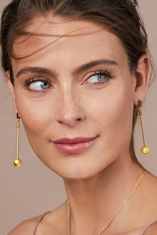 Fairfax & Roberts Contemporary Long Drop Ball Earrings