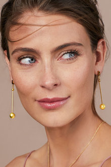 Fairfax & Roberts Contemporary Long Drop Ball Earrings - 281581