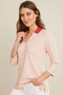 Capture Cotton Pique 3/4 Sleeve Polo - 281647