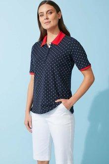 Capture Cotton Pique Short Sleeve Polo - 281648