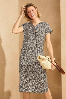 Capture Cotton Slub Dress - 281653