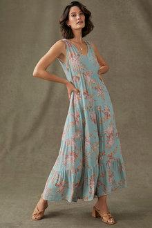 Grace Hill Tiered V-Neck Dress - 281685