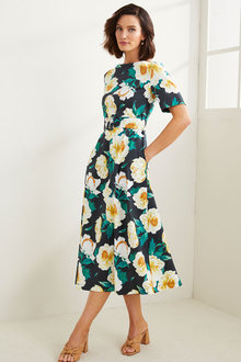 Grace Hill Printed Belted Dress - 281687