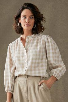 Grace Hill Gather Detail Shirt - 281689