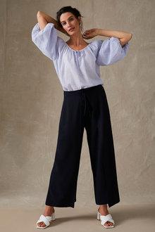 Grace Hill Tie Waist Wrap Pant - 281694
