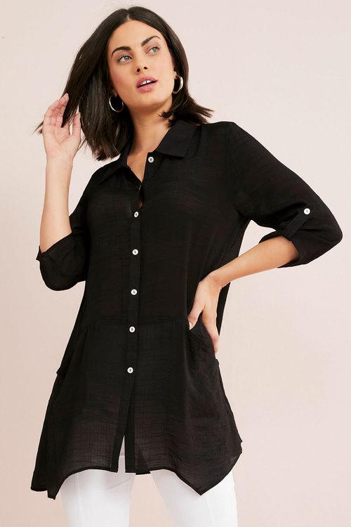 Capture Textured Panel Pocket Shirt