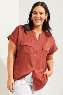 Sara Button Short Sleeve Shirt - 281719