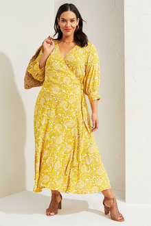 Sara Ruffle Wrap Dress - 281720