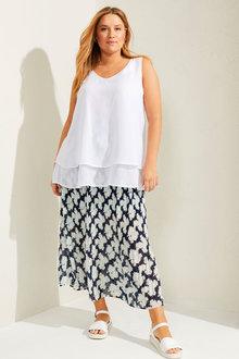 Sara Pleated Pull on Skirt - 281721