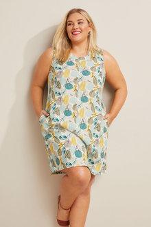 Sara Linen Blend Sleeveless Dress - 281752