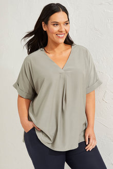 Sara Pleat Front Shell Top - 281753