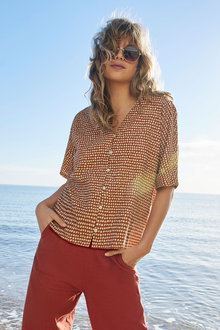 Emerge Linen Blend Kimono Shirt - 281808