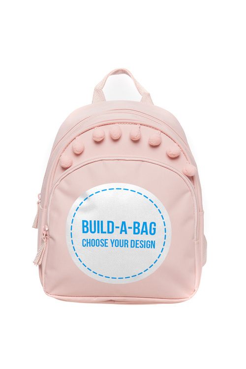 Personalised Mini Pale Pink Backback
