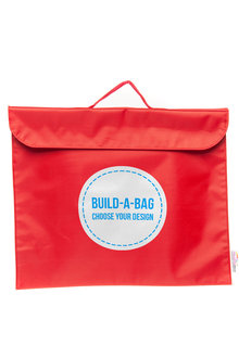 Personalised Build-A-Bag Red Library Bag - 281820