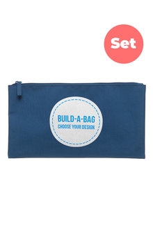 Personalised Build-A-Bag Large Navy Pencil Case Set - 281823