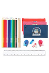 Personalised Build-A-Bag Large Navy Pencil Case Set