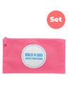 Personalised Build-A-Bag Large Pink Pencil Case Set