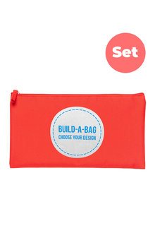 Personalised Build-A-Bag Large Red Pencil Case Set - 281825