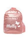 Personalised Sparkle Medium Pink Backpack