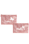 Personalised Sparkle Small Pink Pencil Case