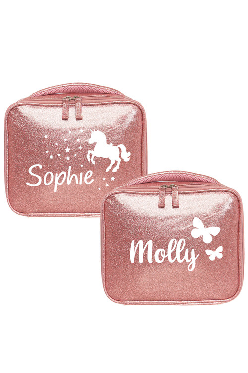 Personalised Sparkle Pink Lunch Bag
