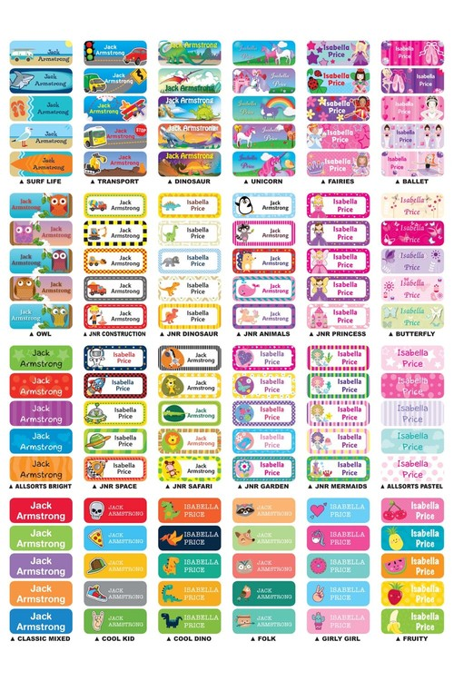 Personalised 30 Small Value Labels Pack