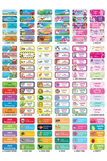 Personalised 30 Small Value Labels Pack - 281840