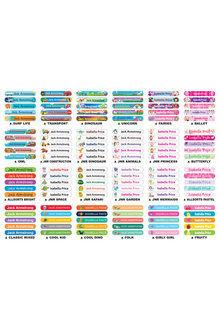 Personalised 30 Stretchable Iron-On Value Labels Pack - 281842