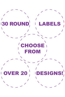 Personalised 30 Round Name Labels Pack - 281843
